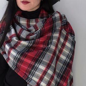 Shawl ZIGHILLI Burgundy Checkered Women/'s Scarf Made In Italy